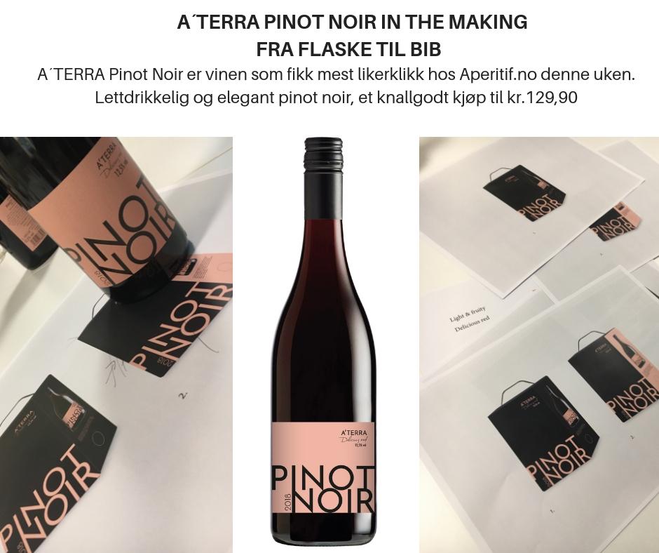 A´Terra Pinot Noir 2018 BiB in the making